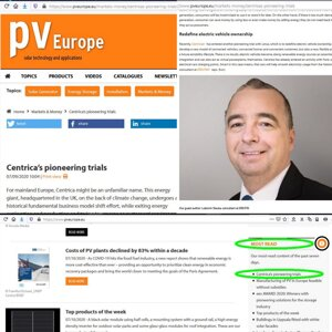 Lubomir's article about CENTRICA most read on pvEurope