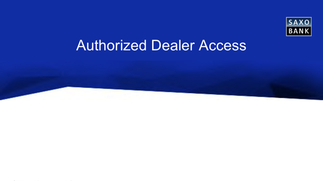 Authorized Dealer SAXO BANK